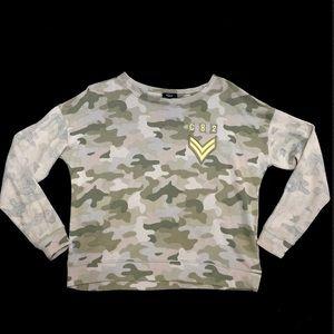 Rails Camo Sweatshirt Kelli Military Patches XS